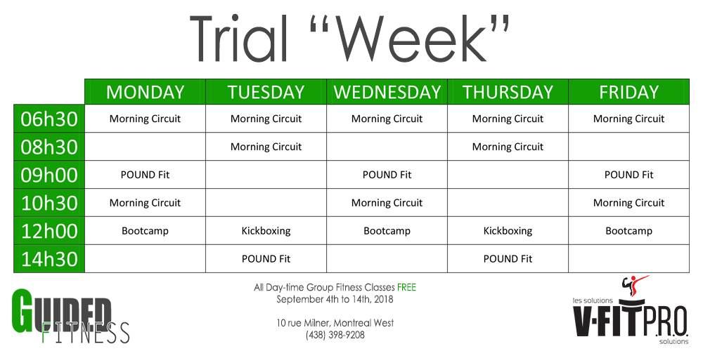"""Trial """"Week"""" at V-Fit PRO with Guided Fitness"""